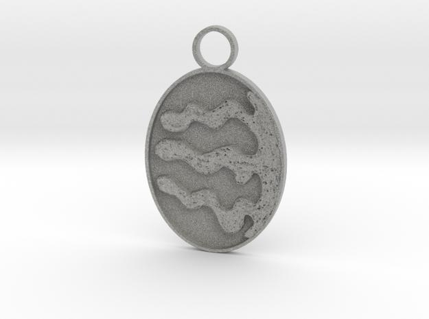4,3 Wiggled Keychain in Metallic Plastic