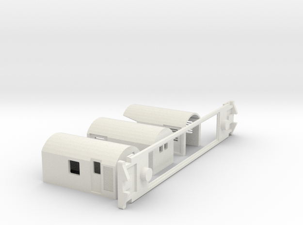 AG Capital Connection, NZ, (OO Scale, 1:76) in White Natural Versatile Plastic