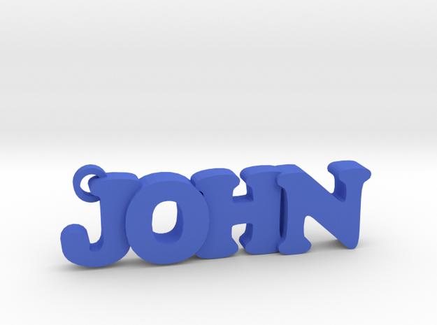 JOHN (Keychain - Pendant) in Blue Processed Versatile Plastic