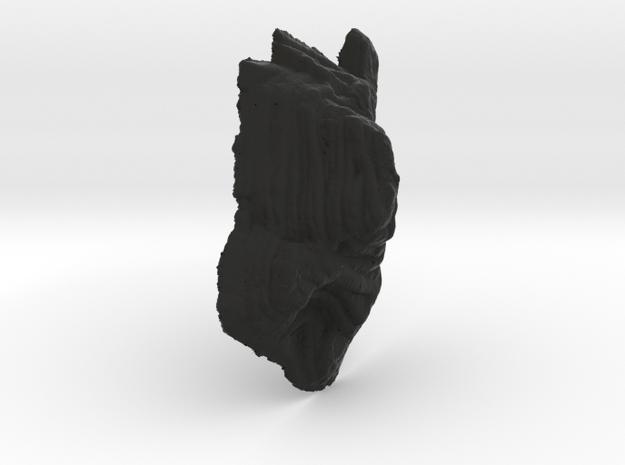 Mine pit, 20cm version, monochrome 3d printed