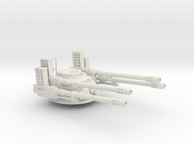 Anti aircraft turret in White Strong & Flexible