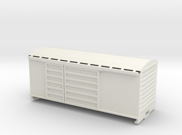 KP Wagon, New Zealand, (S Scale, 1:64) in White Natural Versatile Plastic