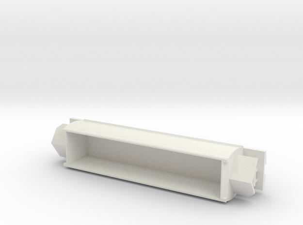 CB Coal Wagon, New Zealand, (OO Scale, 1:76) in White Natural Versatile Plastic