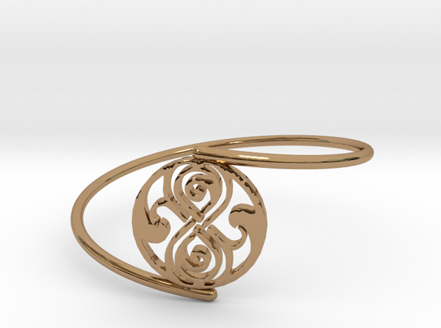 Seal of Rassilon - Bracelet Thin Spiral in Polished Brass