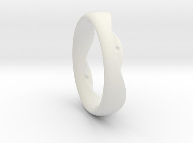 Swing Ring elliptical 19mm inner diameter in White Natural Versatile Plastic