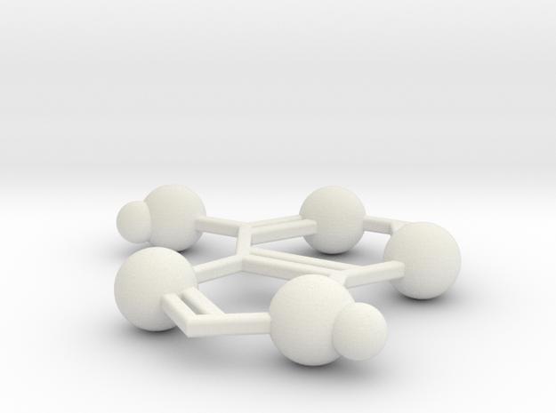 Adenine in White Natural Versatile Plastic