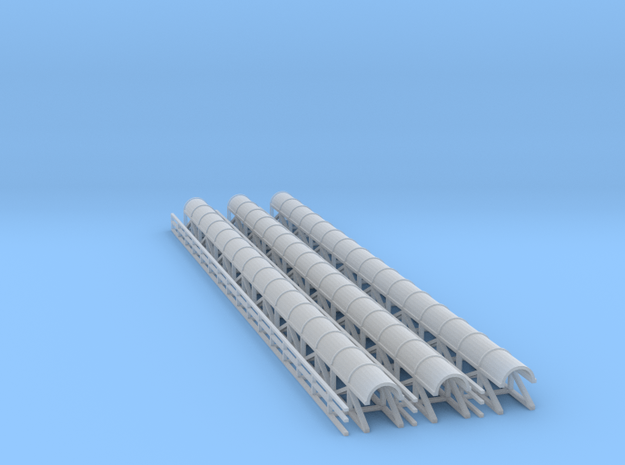 N Scale Mining Conveyor Covered with Walkway in Smooth Fine Detail Plastic