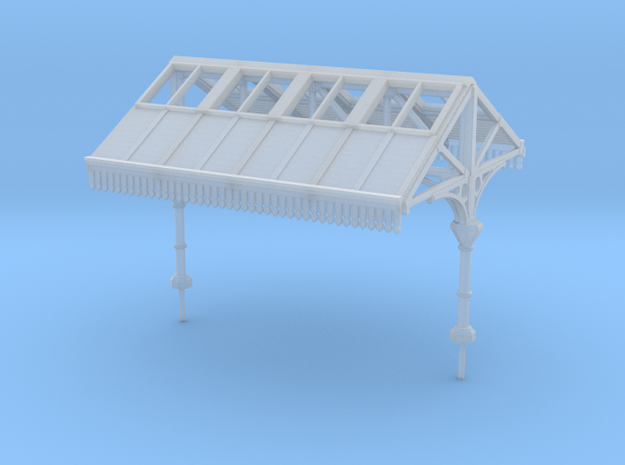 Platform Canopy Section 1 N Scale in Smooth Fine Detail Plastic