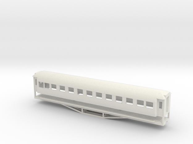 56ft 1st Class SI, New Zealand, (HO Scale, 1:87) in White Natural Versatile Plastic