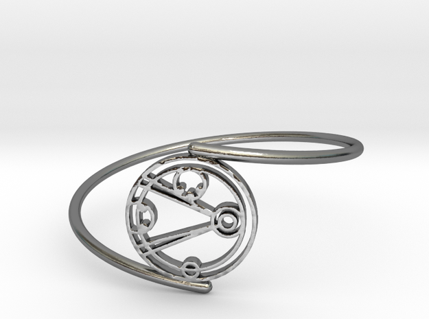 Emily - Bracelet Thin Spiral in Polished Silver