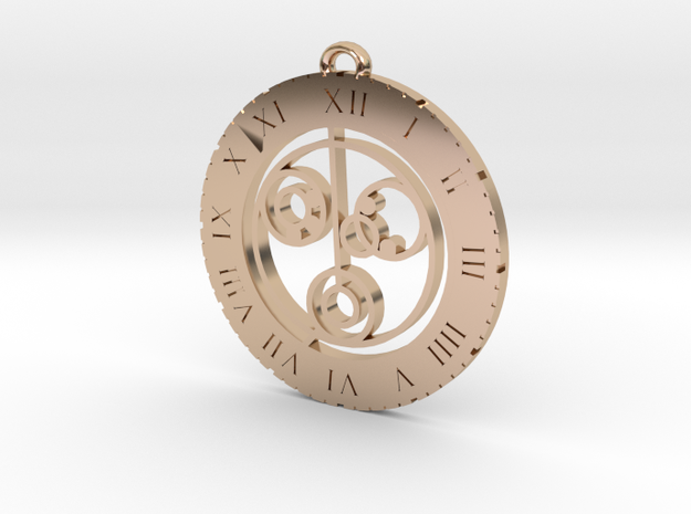 Nicole - Pendant in 14k Rose Gold Plated Brass