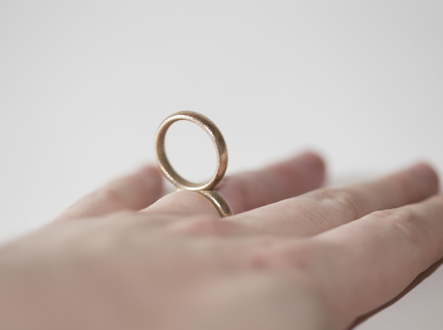 RingRing in Polished Bronzed Silver Steel: 8 / 56.75