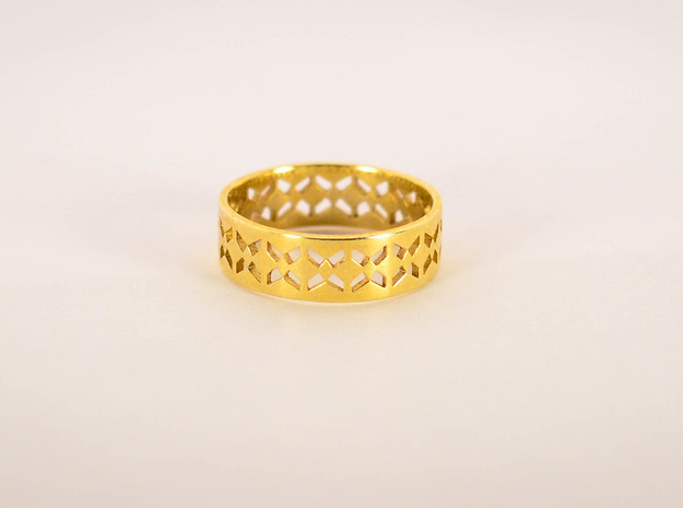 Inverse Echelon Ring Size 6 in Raw Brass