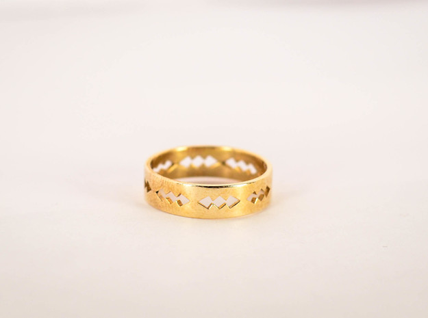 Jagged Ring Size 5 in Raw Brass