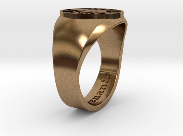 Nuperball Espeluznante Ring in Raw Brass