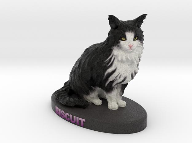 Custom Cat FIgurine - Biscuit in Full Color Sandstone