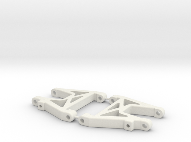 RC10DS Rear Arms (shorter) in White Natural Versatile Plastic