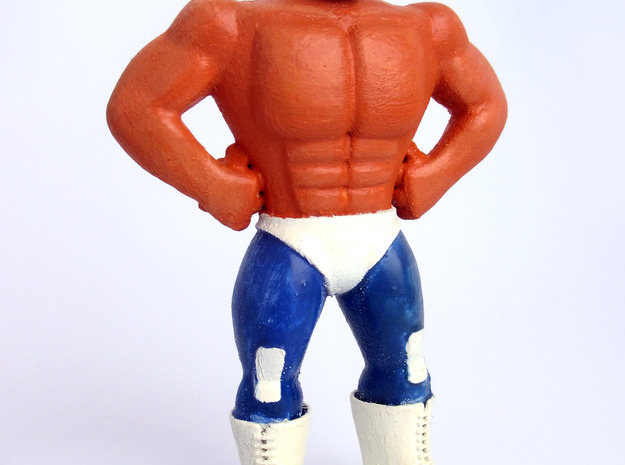 Mexican Wrestler #1: Hurricane Ramirez in Blue Processed Versatile Plastic