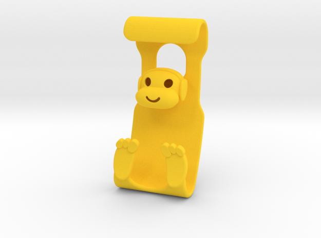 Monkeys Rock! in Yellow Processed Versatile Plastic