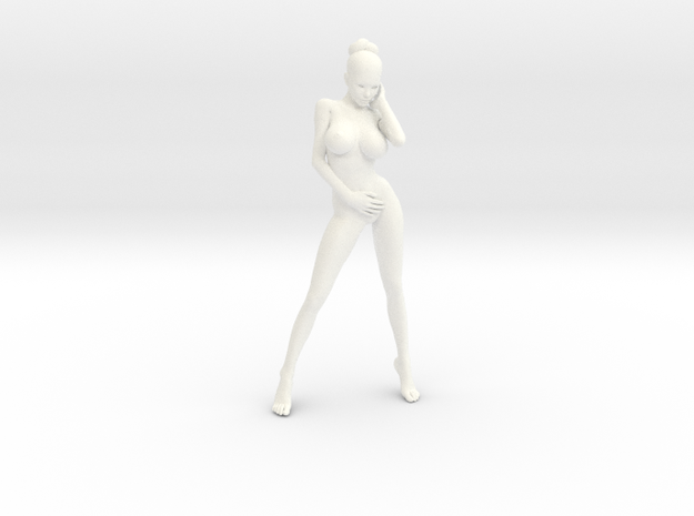 New Girl-001 scale 1/18 Passed in White Processed Versatile Plastic