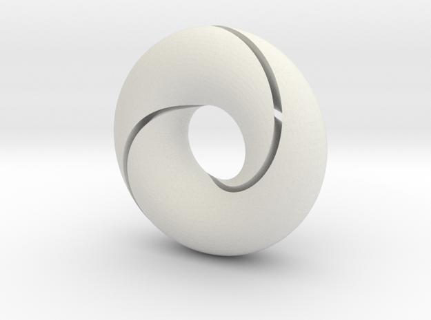 split torus in White Natural Versatile Plastic