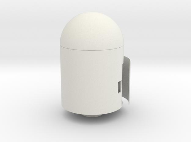 Water Rocket PARACHUTE MODULE #shapebits in White Natural Versatile Plastic