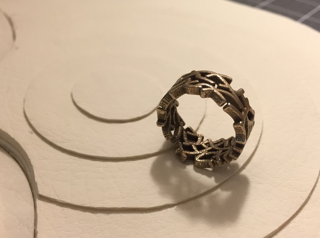 Single Coral Ring (6 1/2) in Stainless Steel