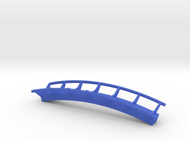 Curved rail inverted size 2 in Blue Processed Versatile Plastic