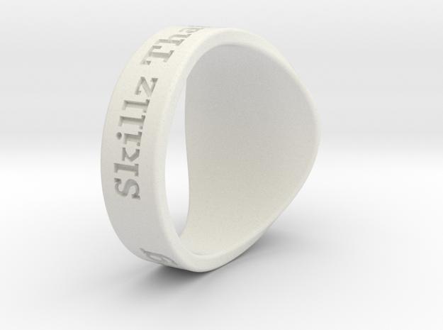 Superball G1nseng Ring Season 4 in White Natural Versatile Plastic