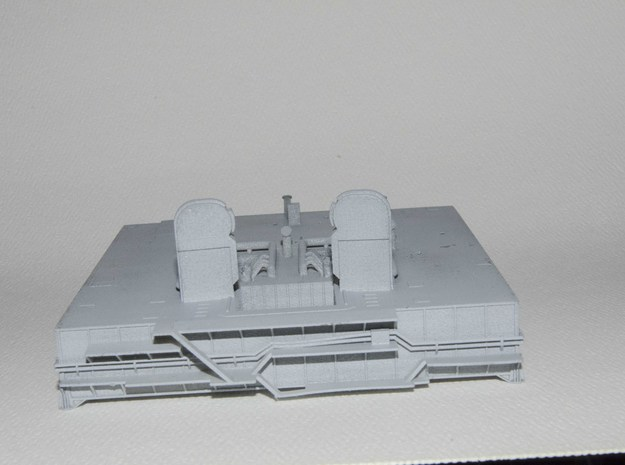 1/400 Shuttle MLP, launch pad NASA 3d printed End elevation. Extra supports have been added to prevent pipe warping on future models.