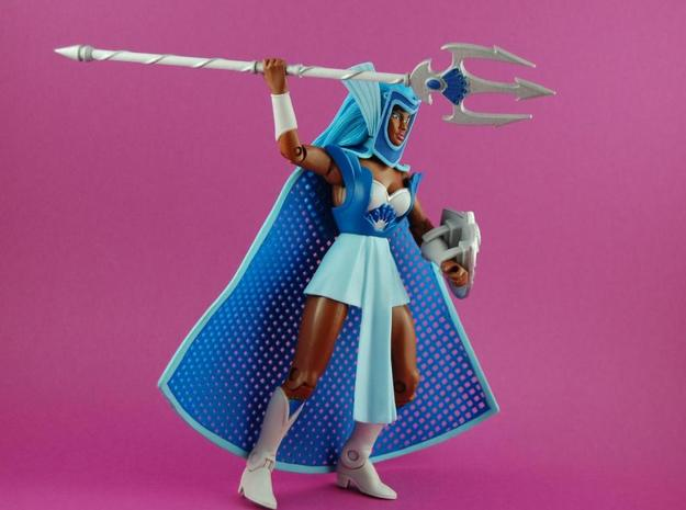 Gladiatrix Trident 3d printed The items are painted with acrylic colors