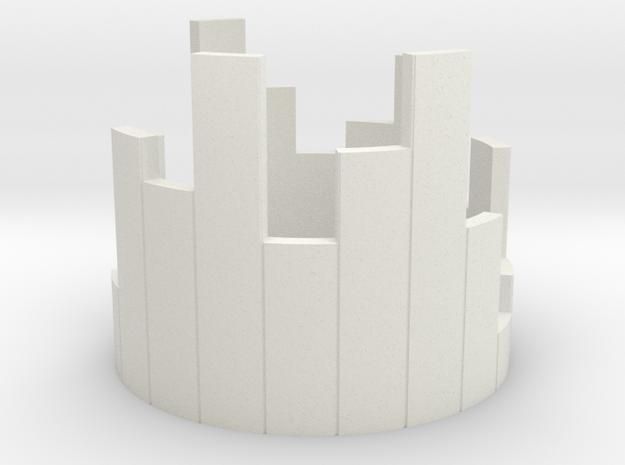 A. 18.54 in White Natural Versatile Plastic