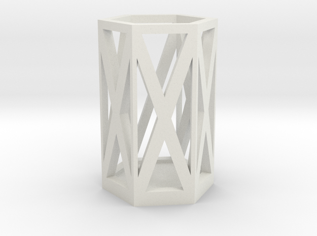 Pencil Holder in White Natural Versatile Plastic