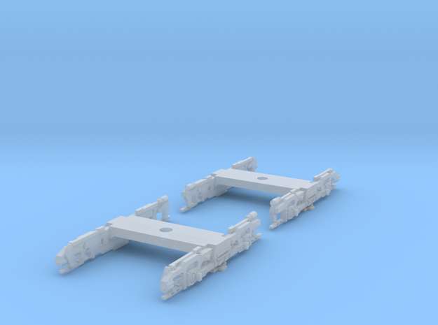 R32 N Scale Trucks for Subway Car 1pr in Smooth Fine Detail Plastic