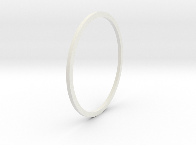AR Upper Receiver RIS Rail Spacer (1mm Thickness) in White Natural Versatile Plastic
