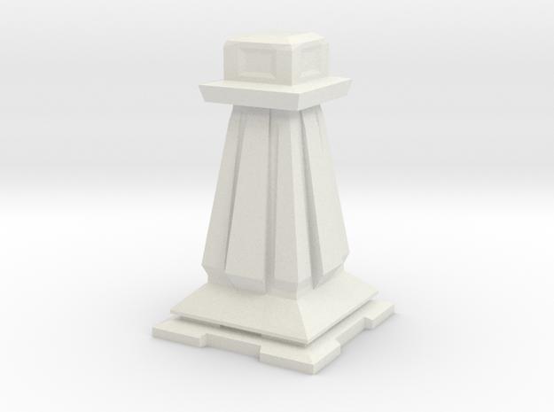 Pawn - Mini Chess Piece in White Natural Versatile Plastic