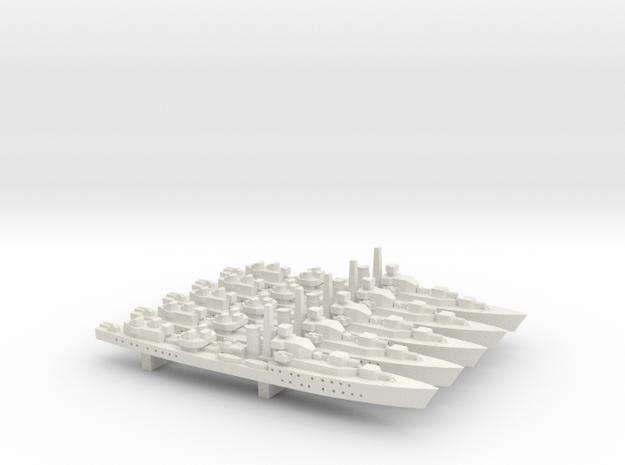 HMS Barfleur (Battle class) 1:1800 x5 3d printed