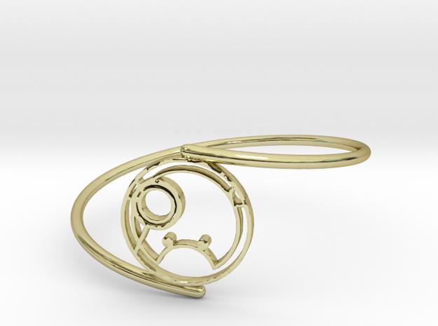 Shanna - Bracelet Thin Spiral in 18k Gold Plated Brass