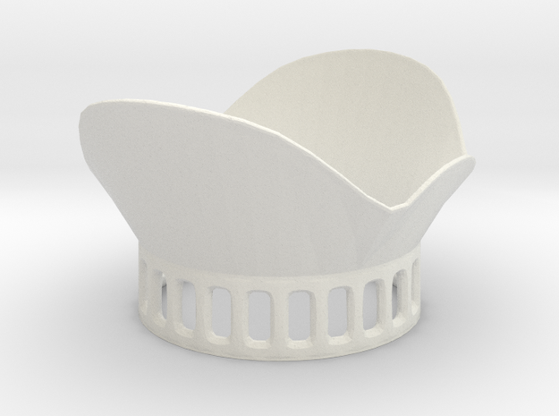 DJI Phantom 3 Lens Petal v2 in White Strong & Flexible