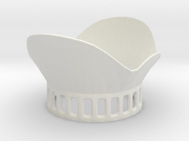 DJI Phantom 3 Lens Petal v2 in White Natural Versatile Plastic