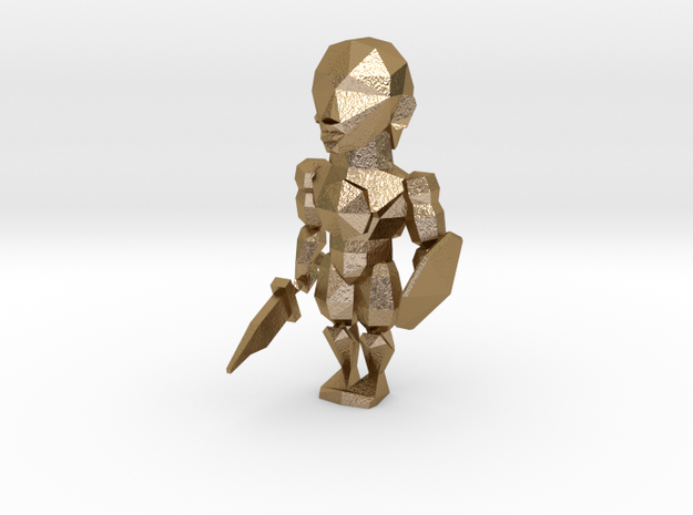 Hero in Polished Gold Steel