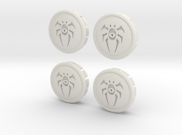 4 X Prius G3 Hub Cap Dimir in White Strong & Flexible