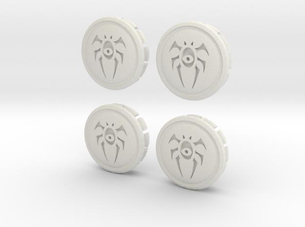 4 X Prius G3 Hub Cap Dimir in White Natural Versatile Plastic