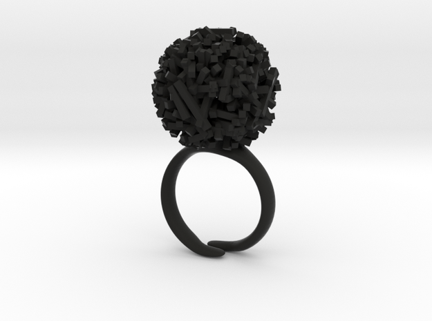 Systematic Chaos* Ring { Small } in Black Strong & Flexible