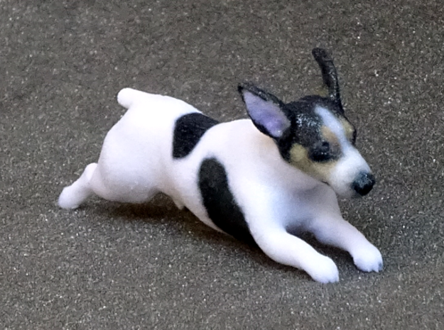 Running Jack Russell Terrier in Full Color Sandstone