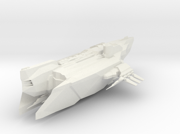 Star Ship in White Natural Versatile Plastic