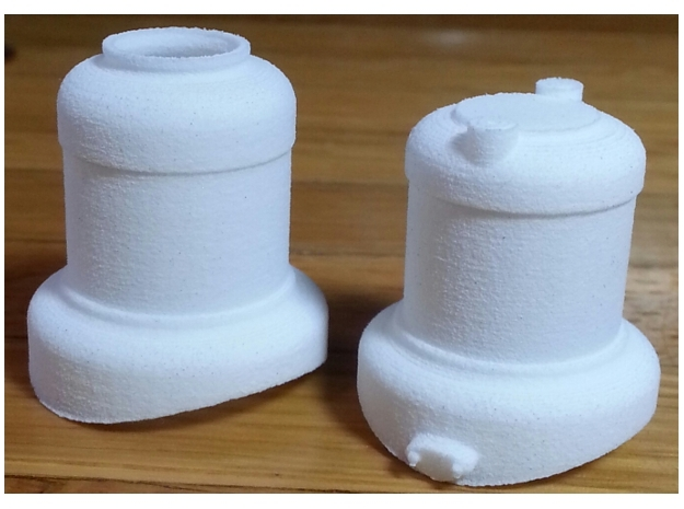 1:20 scale 0-4-0 Baldwin domes in White Natural Versatile Plastic