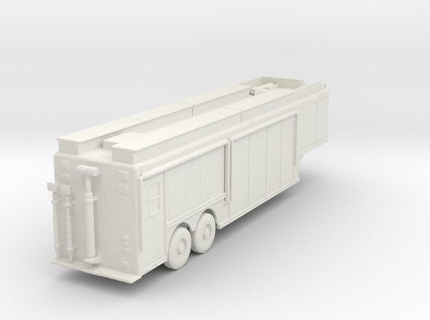 ~1/87 HO Hackney Hazmat/USAR Trailer (Updated 6/4/ in White Natural Versatile Plastic