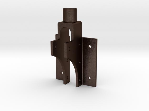 No. 23 Front Frame Brace 2-up .625 Plus 1% in Matte Bronze Steel