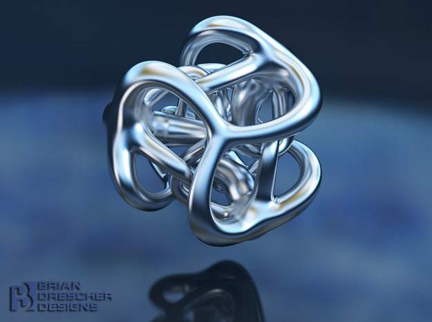 Trinity Squared - 24mm in Polished Bronzed Silver Steel